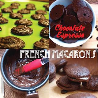 Chocolate Espresso French Macarons