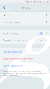 groestlwallet- screenshot thumbnail