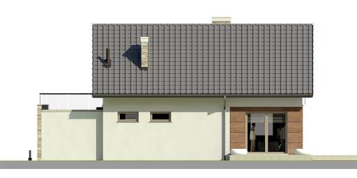 Dom przy Alabastrowej 26 - Elewacja tylna