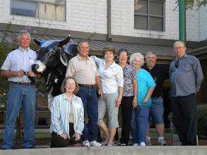 Photo: Tom Sumner, Ann (McLean) Adams, Terry Dietz, Lyn (Reeves) Griffiths, Carol (Craven) Barnes, Rosemary (Worthy) Dooley, Bill Boon, John Jones