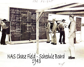 Photo: Chase Field Flight Schedule Board 1943