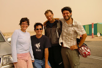 Photo: Benoit, Ghislain and us in Nouadibbou