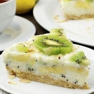 Low-calorie Yoghurt Cake With Kiwi And Banana.