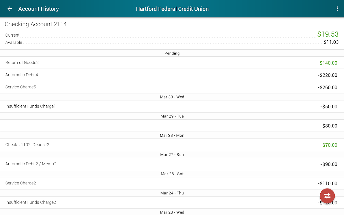 Hartford Federal Credit Union- screenshot