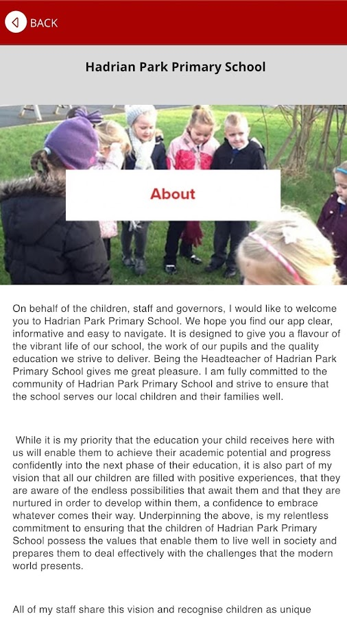 Hadrian Park Primary School- screenshot