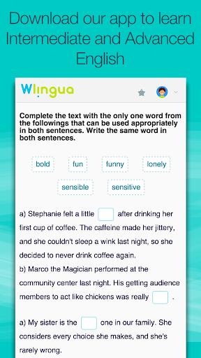 Advanced English with Wlingua screenshot 3