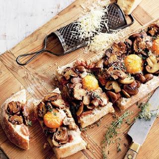 Mushroom, Bacon & Egg Breakfast Toastie.