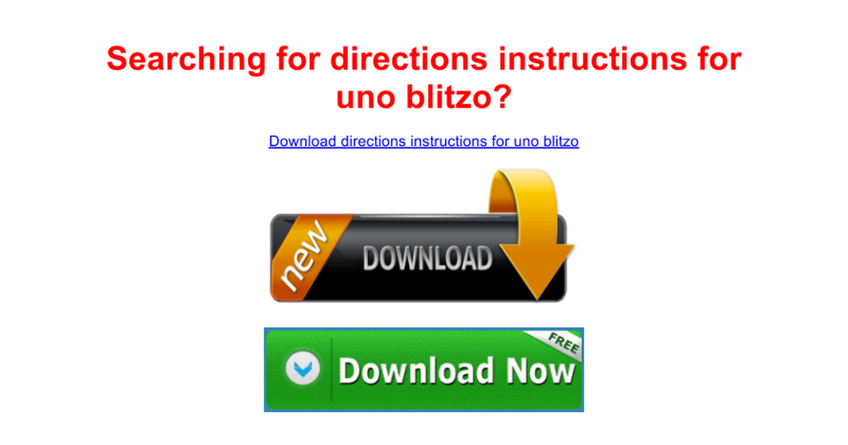 Directions Instructions For Uno Blitzo Free Google Docs
