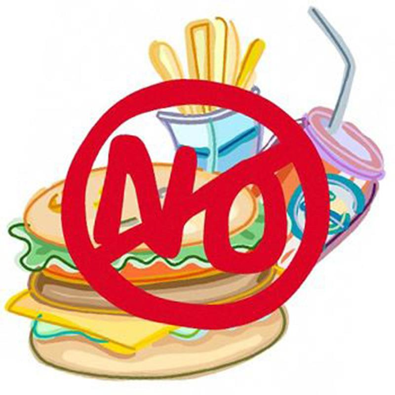 Image result for say no to fast food