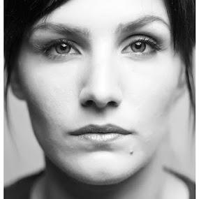 She by Sasa Lazic - People Portraits of Women ( face, woman, bw, 50mm, portrait, eyes )