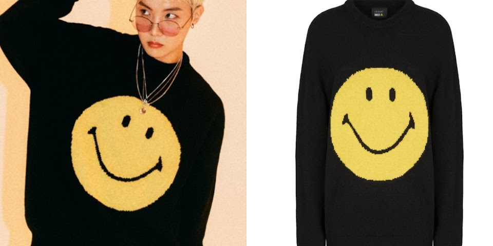 smiley black sweater collage