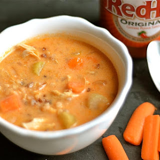 Slow Cooker Buffalo Chicken Chowder