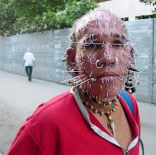 Photo: luis antonio aguero. has record for face piercings. cuba. Tracey Eaton photo.