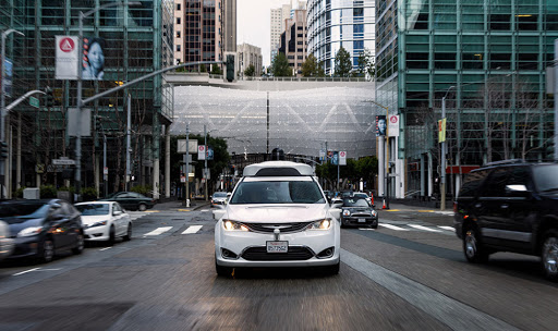 Waymo driving on public roads