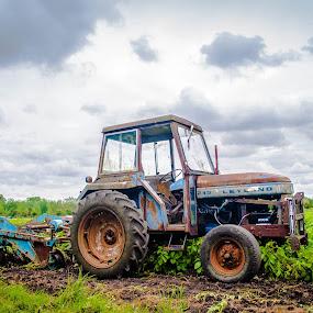 Tractor by Derek Robinson - Transportation Other ( tractor swindon farming england fields )