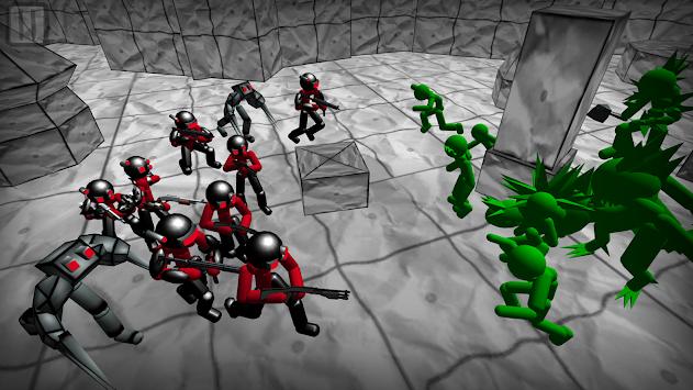Battle Simulator: Stickman Zombie