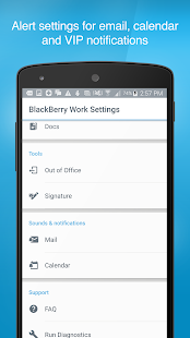 BlackBerry Work Screenshot