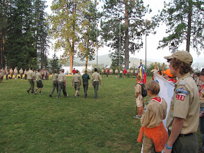 Photo: First morning flag ceremony.