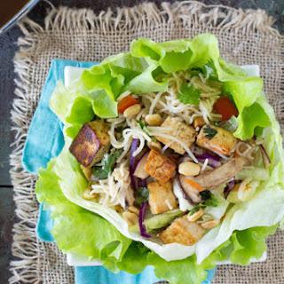 Sesame Noodle & Tofu Lettuce Wraps