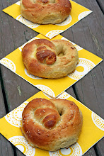 Photo: The pretzels were very easy to make. Perfect for that crisp fall day!