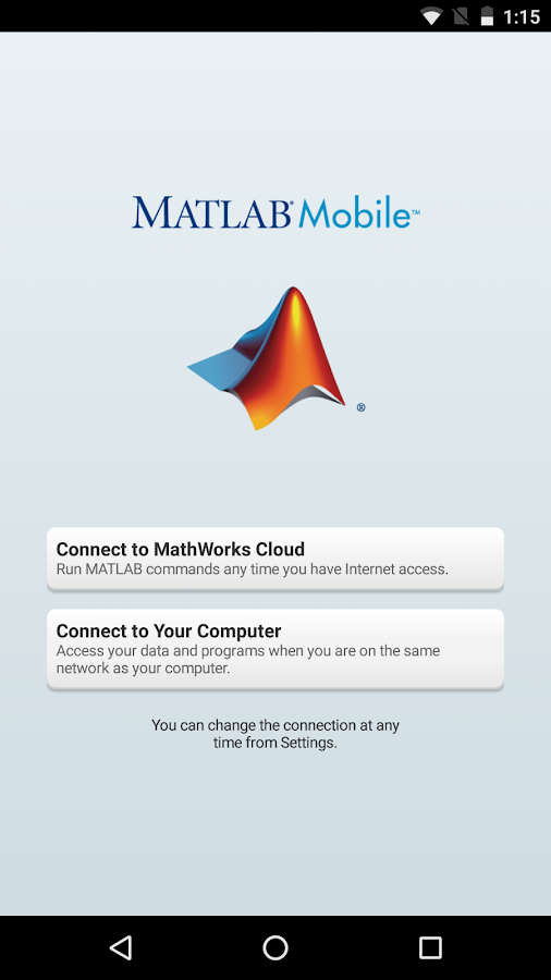 MATLAB Mobile- screenshot
