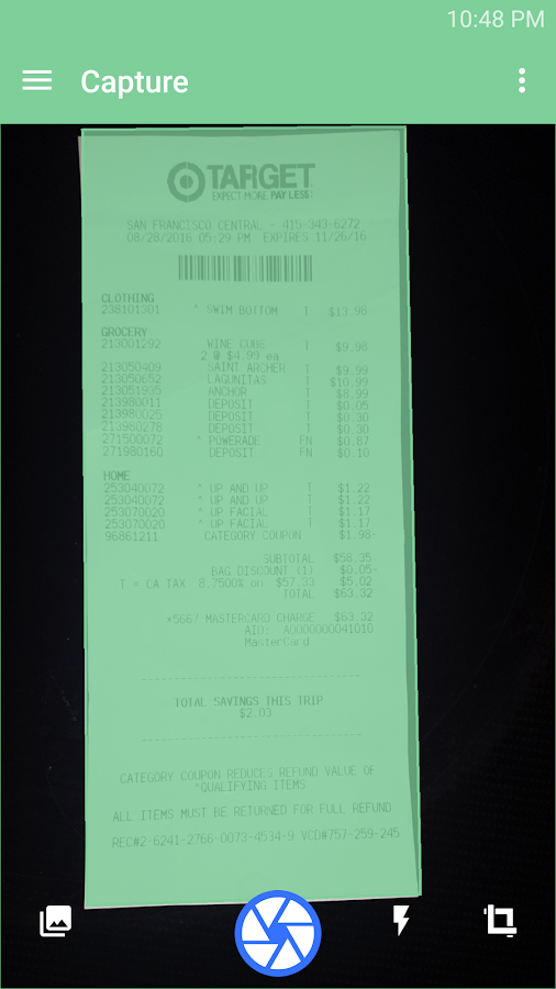 Receipts & Expenses IQBoxy (Unreleased)- screenshot