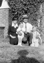 Photo: Flora & Barrett Franks w/grandsons Gerald Balkcom and Ken Balkcom c1948