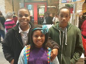 Photo: Cheymon, Kaleya, and Jihad at Opry Mills
