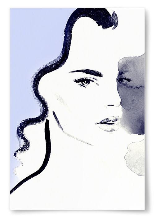 Poster Lila Akvarell