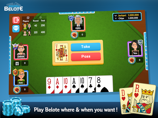 Multiplayer Belote & Coinche android2mod screenshots 7