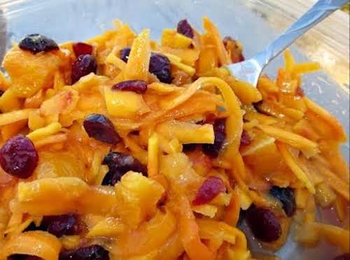 """Butternut Squash, Carrot, Apple & Cranberry Salad """"I tried this recipe for..."""