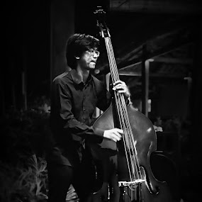 The Bassist by Herry Wibowo - People Musicians & Entertainers