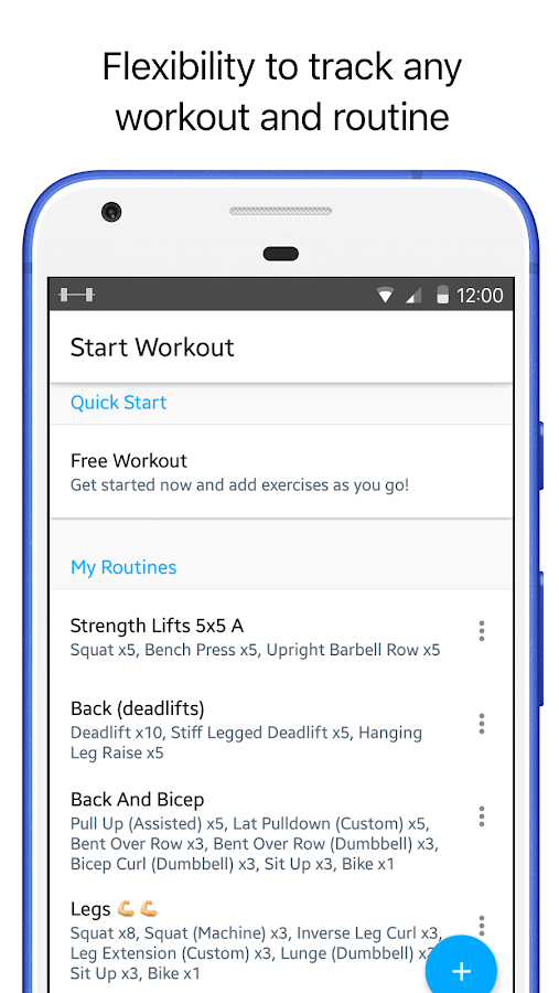 Strong: Exercise Gym Log, 5x5- screenshot