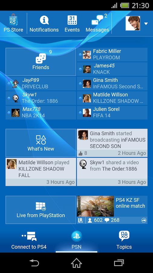 PlayStation®App- screenshot