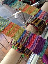 Photo: my straps on the saori loom