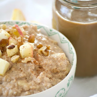 Shamrock Farms Cold Brew Coffee and Milk with Apple Oatmeal.