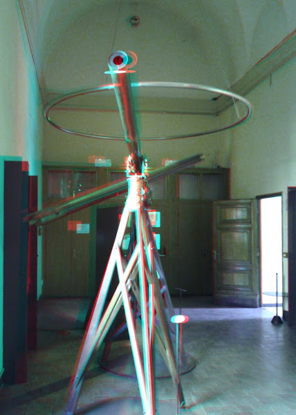 Photo: 1775 Dollond refractors on display at the Brera astronomical museum in Milan, Italy. Anaglyph created with Make It 3D Pro for Android.
