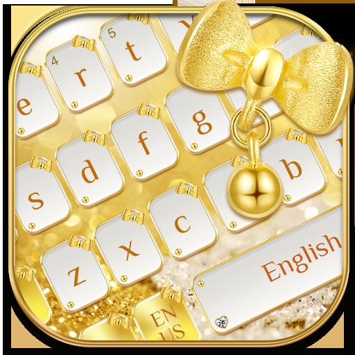 Shimmering Golden Bow keyboard