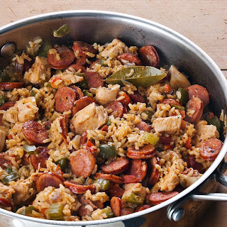 Chicken and Sausage Jambalaya.