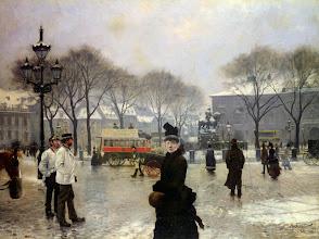 "Photo: Paul Gustave Fischer, ""Giornata invernale a Kongenes Nytrov, Copenaghen"" (1888)"