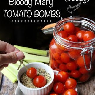 Boozy Bloody Mary Tomato Bombs.