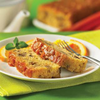 Sticky Rhubarb Bread