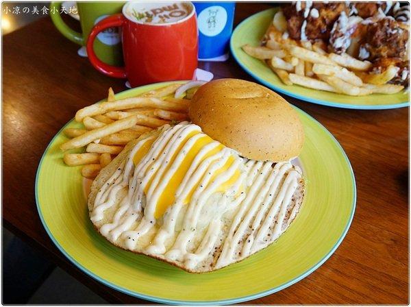 奧樂美特Olimato║創意美式大份量早午餐,獨創飛碟式起司漢堡,套餐飲料免費續杯喝到飽,全天侯供應/免費WiFi、插頭、無收服務費
