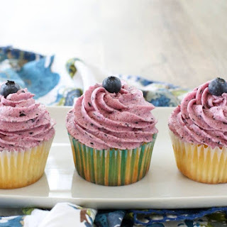 Fresh Blueberry Frosting.