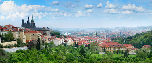 Photo: Prague as seen from behind of the Prague Castle