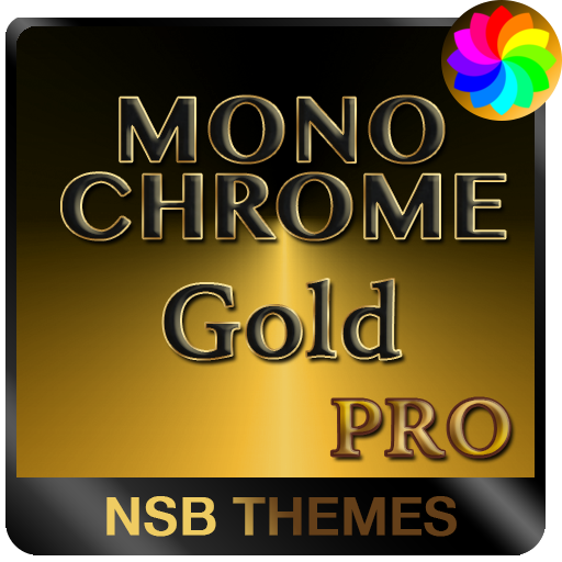 MonoChrome Gold Pro - Theme for Xperia