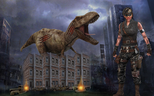 Download Dinosaur Hunting 2017: City Attack Survival Game For PC Windows and Mac apk screenshot 2