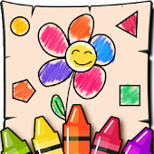 Kids Shapes and Colors, Coloring book Free Games🎨
