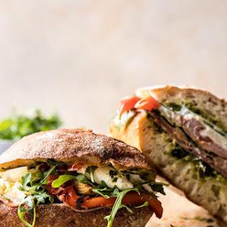 Antipasto Mozzarella Sandwich with Lemon Pesto.