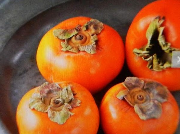 PERSIMMONS...Refrigerate as soon as soft. To serve soft persimmons, place soft persimmons, place stem...